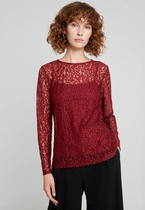 Blouse - garnet red