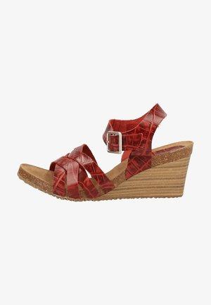 Sandalen met plateauzool - red