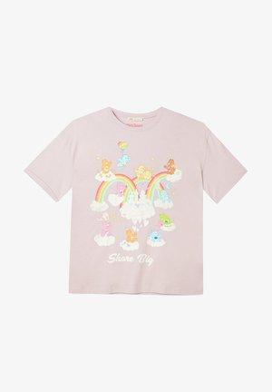 GLÜCKSBÄRCHIS - Print T-shirt - mauve