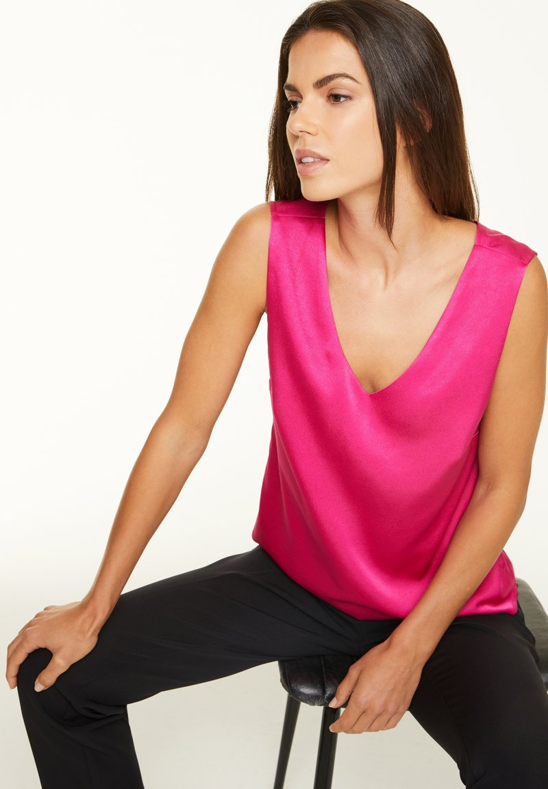 comma - Blouse - deep pink