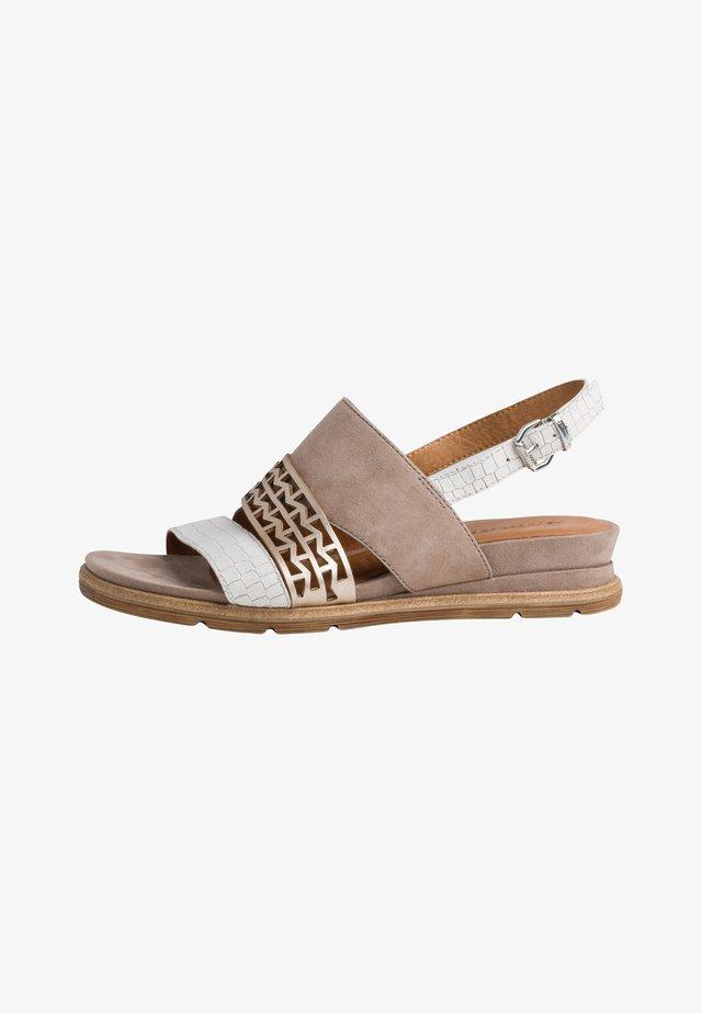 Sandales compensées - taupe comb
