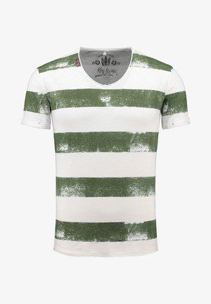 MT AIRFLIGHT - Print T-shirt - offwhite-khaki
