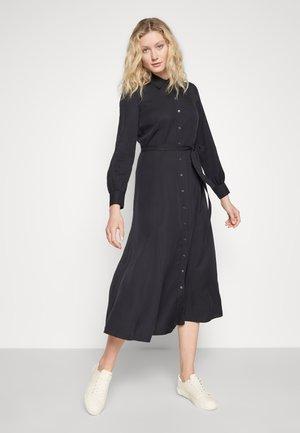 DRESS, FEMININE FLARED, SHIRT DETAILS - Maxi šaty - dark blue