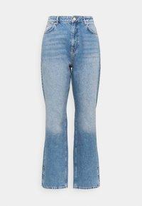 Simply Be - SPLIT HEM  - Straight leg jeans - stone blue denim - 0