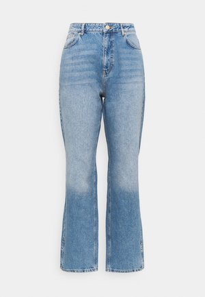 SPLIT HEM  - Džíny Straight Fit - stone blue denim