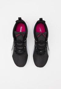 Reebok - MEGA FLEXAGON - Sports shoes - black/white/pink - 3