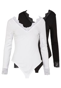 Anna Field - 2 Pack - Long sleeved top - white/ black - 0