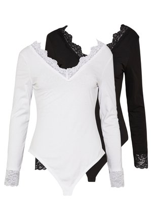 2 Pack - Long sleeved top - white/ black
