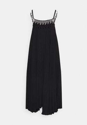 BEADED PLEATED DRESS - Cocktailkleid/festliches Kleid - black