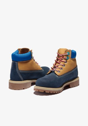 Lace-up ankle boots - navy nubuck