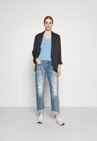G-Star - KATE BOYFRIEND - Straight leg jeans - aqua destroyed - 1