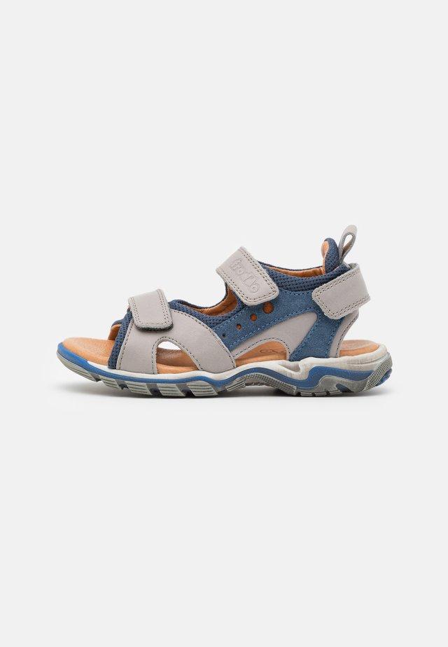 KARLO - Sandaalit nilkkaremmillä - grey/blue