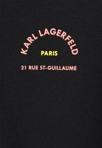 KARL LAGERFELD - MIX LOGO - Print T-shirt - black - 2