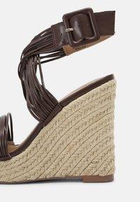 Even&Odd - Platform sandals - brown - 7