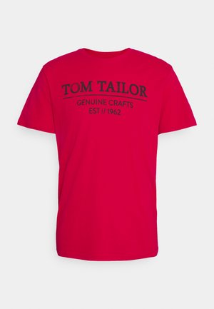 T-shirt con stampa - powerful red
