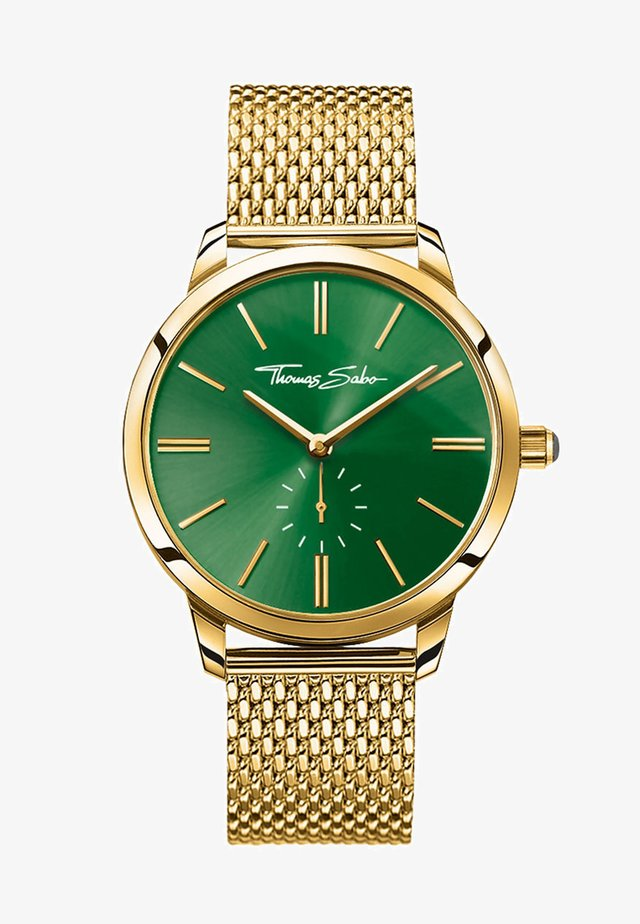 GLAM SPIRIT - Montre - gold-coloured/green