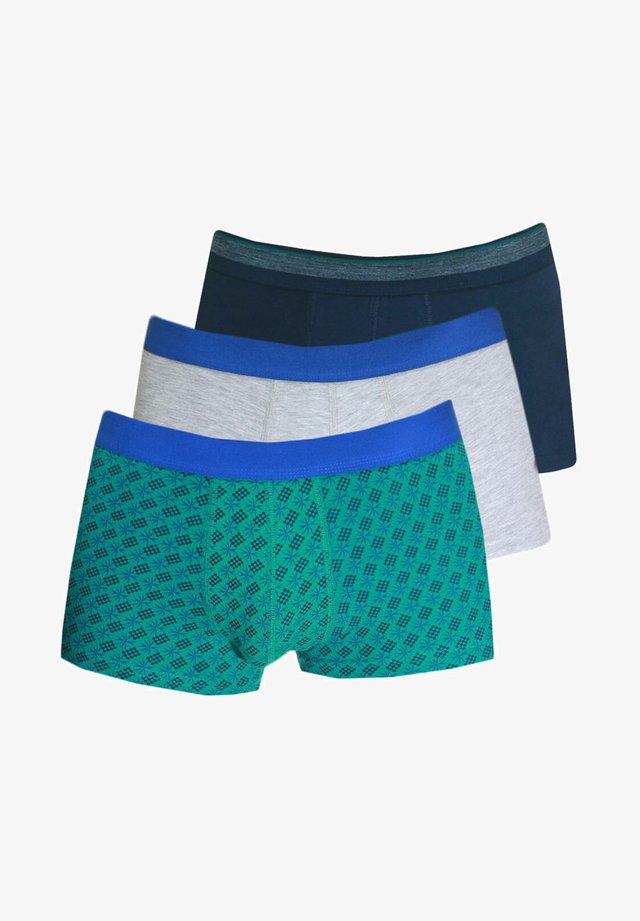 3 PACK - Pants - navy/grau/grün