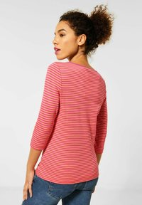 Street One - MIT STREIFEN - Long sleeved top - orange - 2