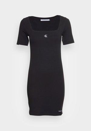 SQUARE NECK DRESS - Jerseyklänning -  black
