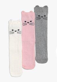 Ewers - KATZE 3 PACK - Socks - altrosa/latte/grau - 2