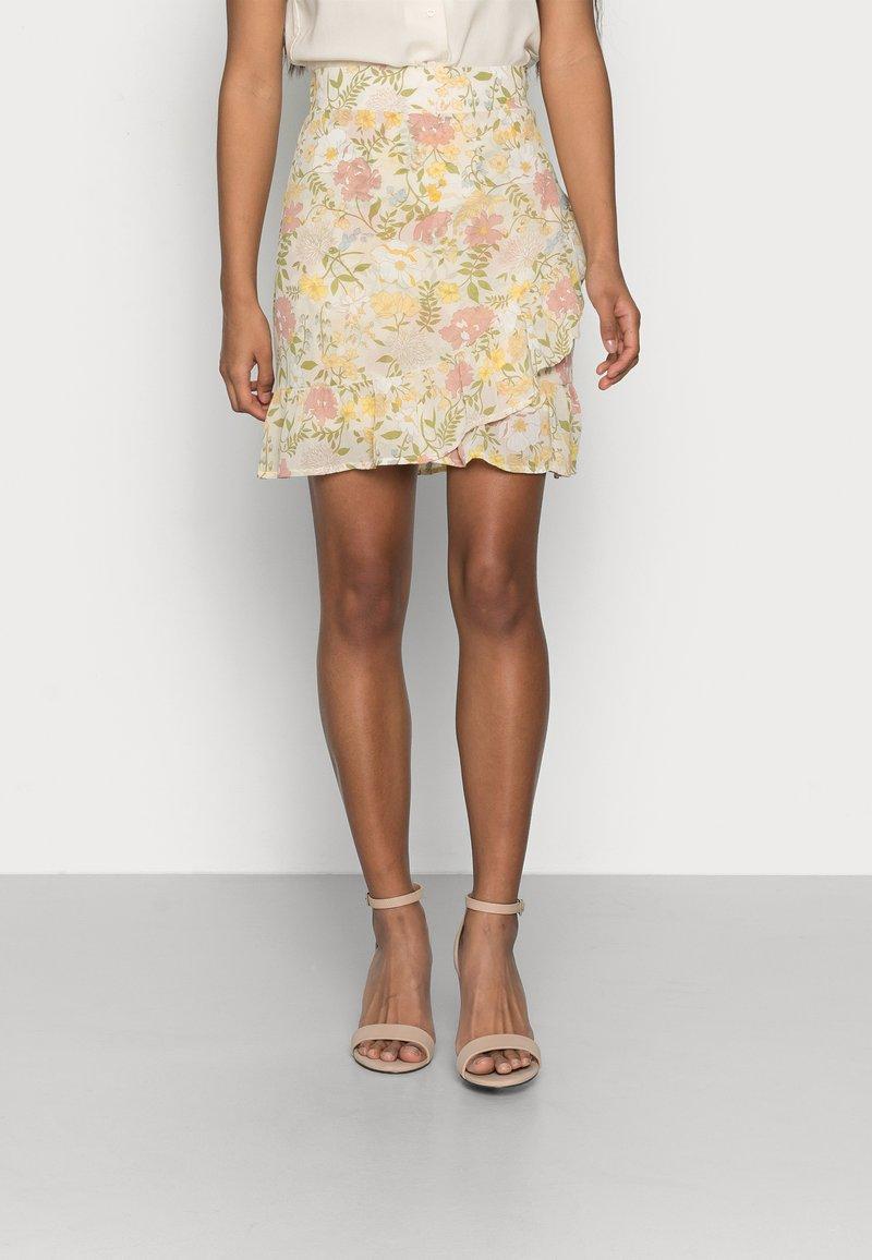 VILA PETITE - VISELENE WRAP SKIRT - A-line skirt - birch