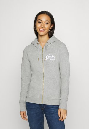 VL NYC PHOTO - Zip-up hoodie - grey marl