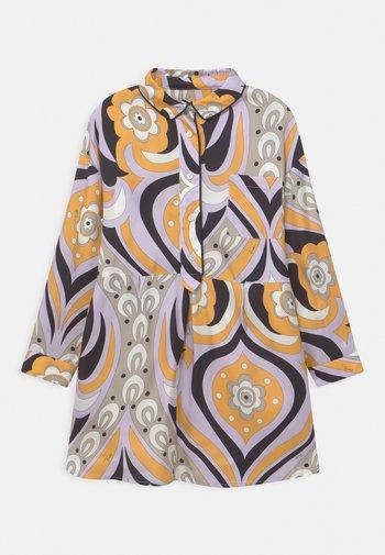 DRESS - Shirt dress - giallo/lilla