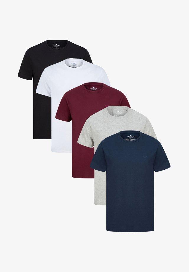TEE BASIC 5PACK - T-shirt basic - multi