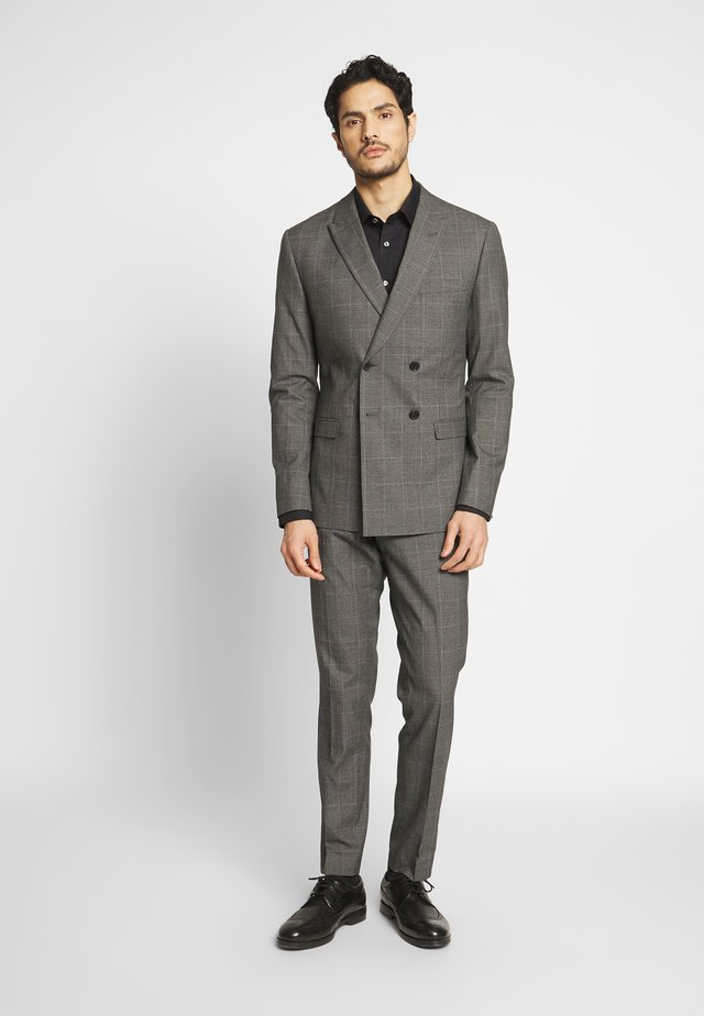 TWIST CHECK SUIT - Kostuum - grey
