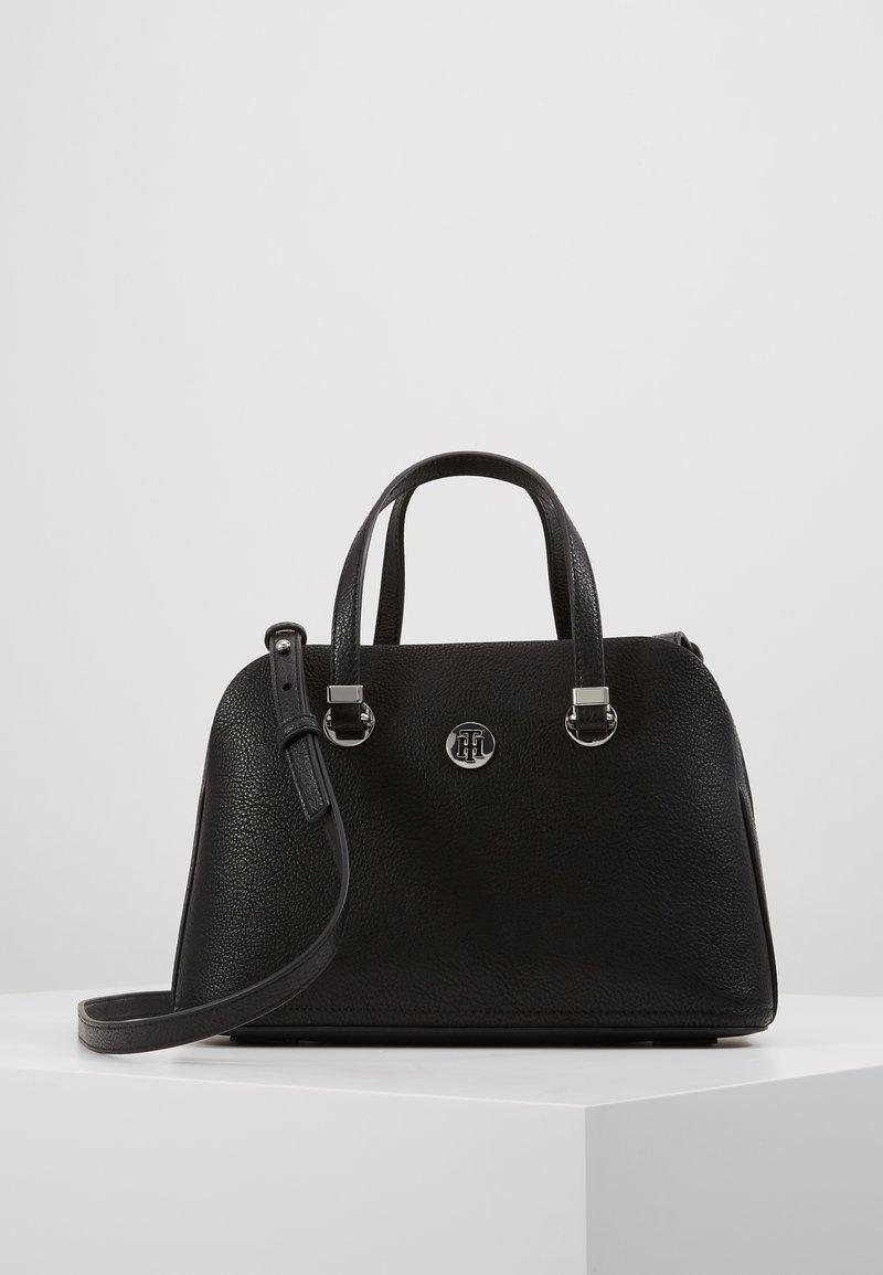 Tommy Hilfiger - CORE MED SATCHEL - Handbag - black