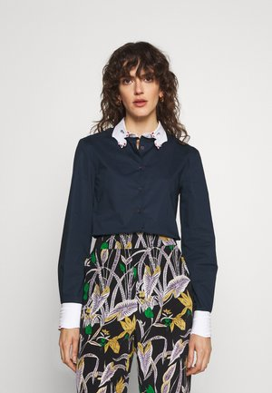 BASIC BLOUSE - Button-down blouse - blue