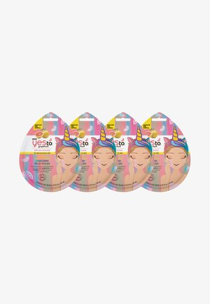 GRAPEFRUIT VIT C GLOW BOOST UNICORN MUD MASK 4 PACK - Skincare set - -