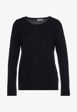 LOOSE CREW JUMPER - Stickad tröja - black