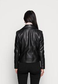Forever New - CORRIE BIKER - Faux leather jacket - black - 2