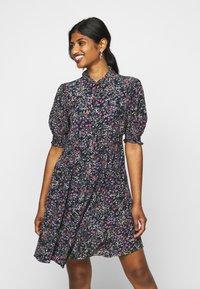 Vero Moda Petite - VMLISSY SHORT DRESS - Day dress - dark blue - 0