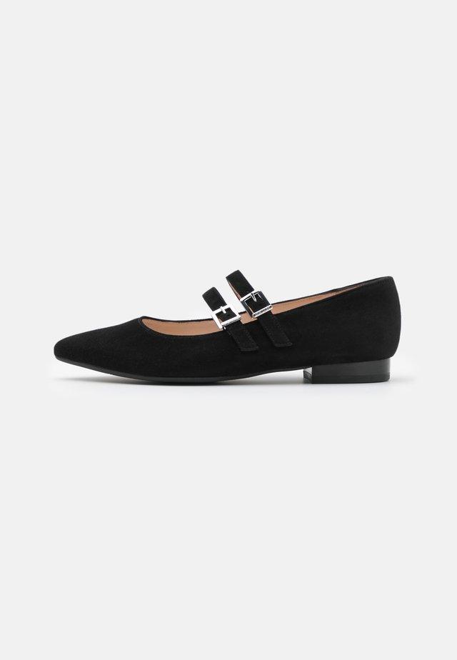 TACOMA - Ankle strap ballet pumps - schwarz