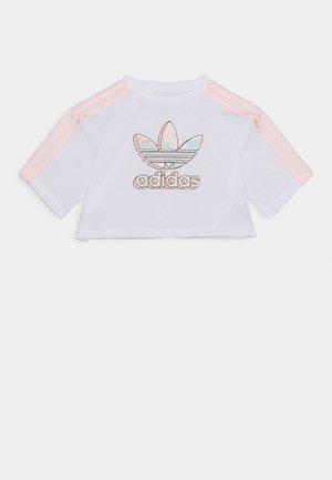 CROP TEE - T-shirt print - white
