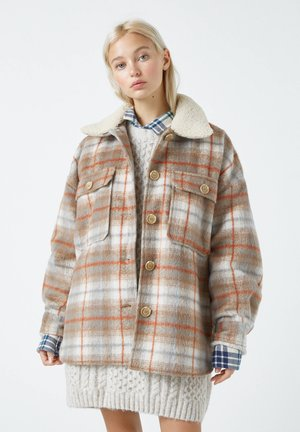 Light jacket - mottled brown