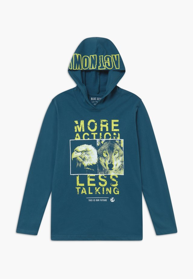 TEENS FUTURE CLIMATE CHANGE HOODIE - Mikina skapucí - pacific