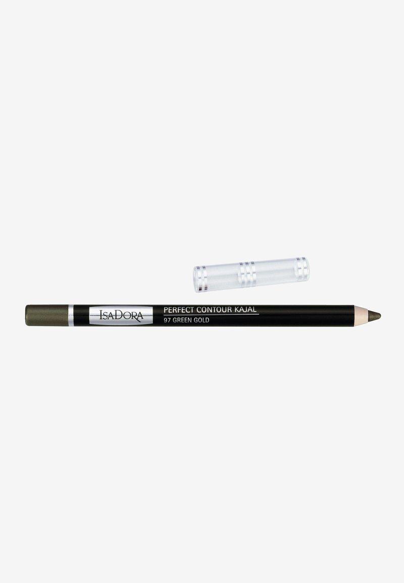 IsaDora - PERFECT CONTOUR KAJAL - Eyeliner - green gold