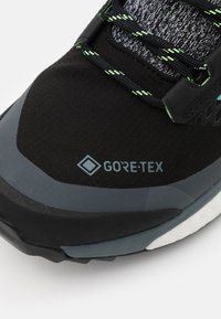 adidas Performance - TERREX FREE HIKER GORE-TEX - Hiking shoes - core black/active mint/hi-res yellow - 5