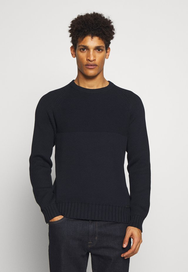 MARINE CREW NECK - Jumper - dark ink