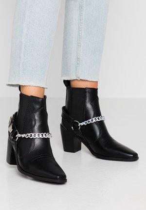 CORTINA - Cowboystøvletter - black