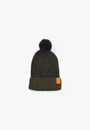 Hat - olive knit