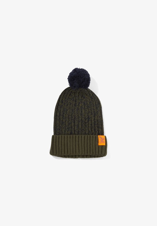 Beanie - olive knit