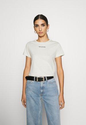 TEE WOKE UP LIKE THIS - T-shirt basic - beige
