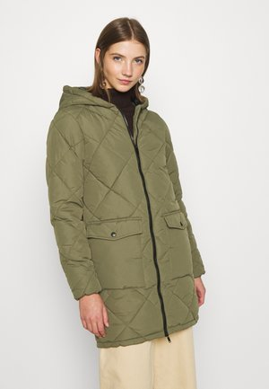 NMFALCON LONG JACKET - Winter coat - dusty olive