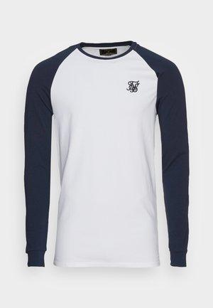 RAGLAN TEE - Camiseta de manga larga - navy/white