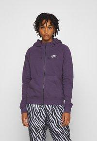 Nike Sportswear - Zip-up hoodie - dark raisin/white - 0