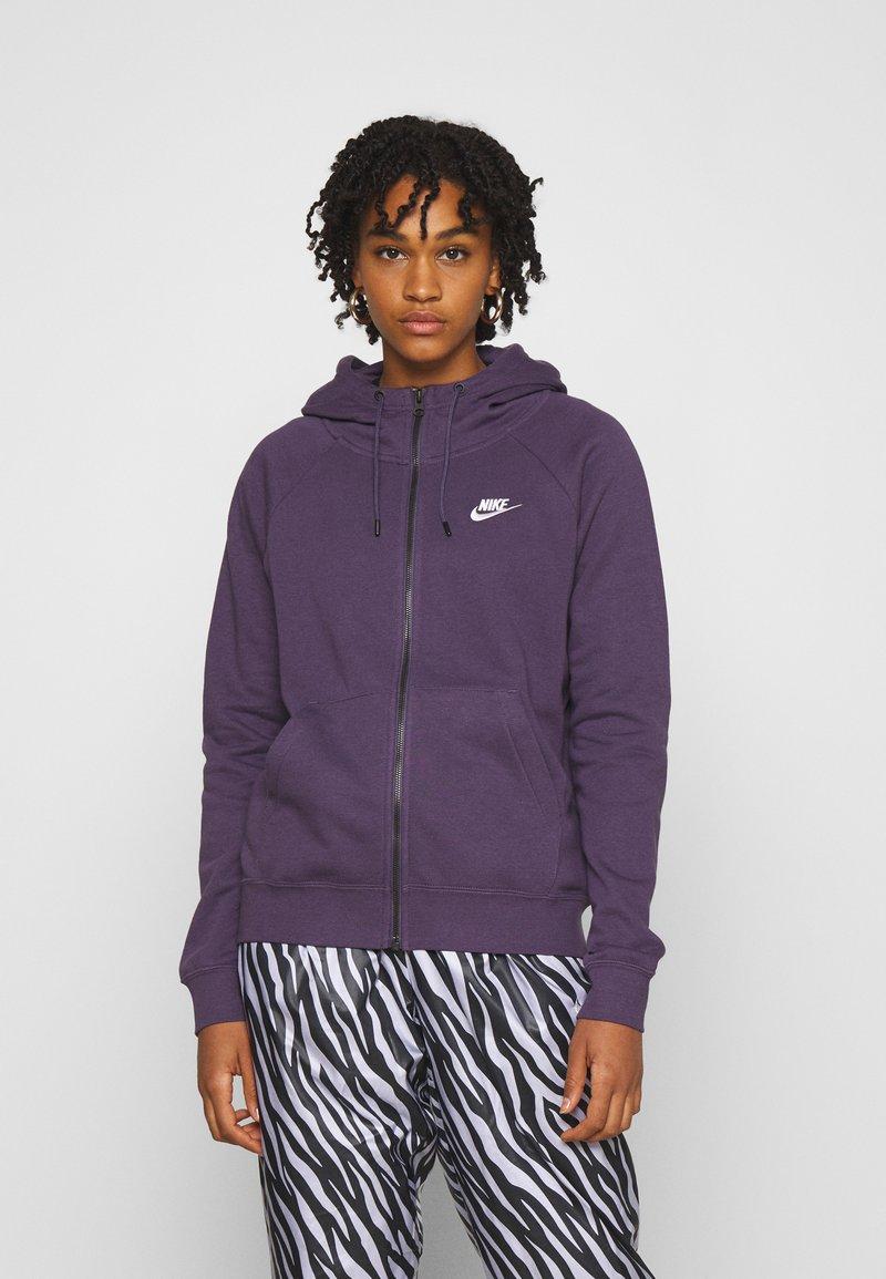 Nike Sportswear - Zip-up hoodie - dark raisin/white